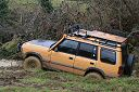 Camel Trophy Landrover Discovery stuck in mud