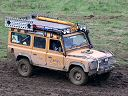 Camel Trophy Defender 110 in mud