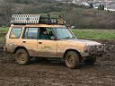 Land Rover Discovery in mud