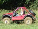 Red off road buggy